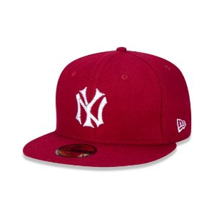 BONÉ NEW ERA 59fifty New York Yankees Mlb Aba Reta 7/1-4 VERMELHO