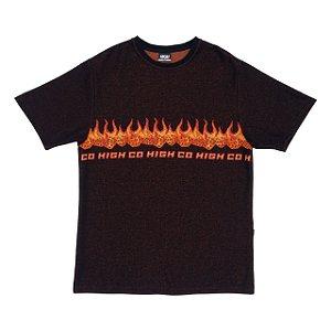 Camiseta High Company Jacquard_Tee_Dices_Black