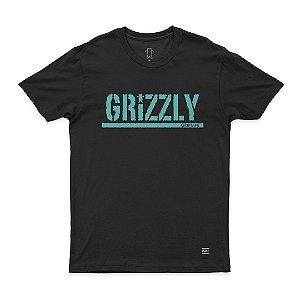 Camiseta Grizzly Stamped Tee Black