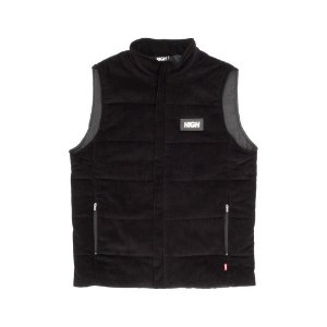 Corduroy Vest Black High