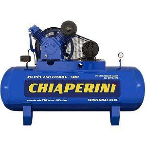 Compressor de Ar Alta Pressão 20 Pcm 250 Litros – Chiaperini 20/250 Blue