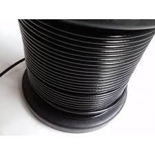 Cabo de aço galvanizado com capa preto para academia 1/8 (3,2mm) 6 X 19 bobina 100m