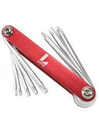 Jogo de Chaves Torx Canivete 8 chaves Lotus Plus