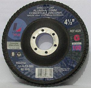 Disco de Desbaste Tipo Flap A lumina - Grão 120 Lotus Plus