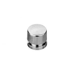 Botão Metálico Francês para Espelho Cromado - 20 pçs
