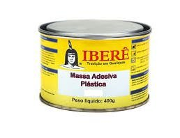 Massa Adesiva Plástica Iberê Cinza 400g - 10 unidades