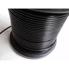 Cabo de aço galvanizado com capa preto para academia 1/8 (3,2mm) 6 X 19 bobina - 30m