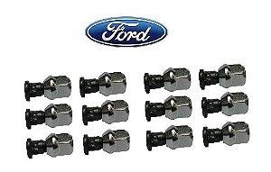 Jogo parafuso roda com porca automotivo Ford 16 und