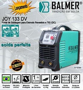 Máquina de Solda Inversora Joy 133DV BIVOLT 127/220 ELETRODO/TIG BALMER