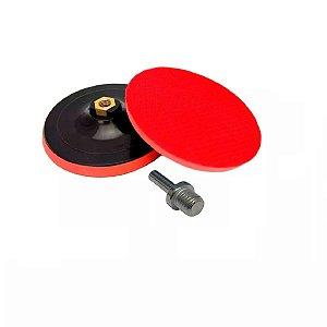 Disco de Borracha com Velcro Suporte Boina 115mm MTX