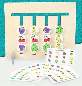 Brinquedo montessori - Cores e frutas