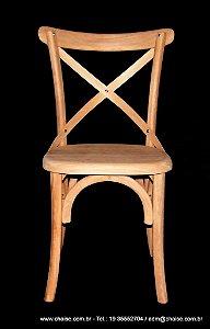 Cadeira Montana sem pintura - assento madeira