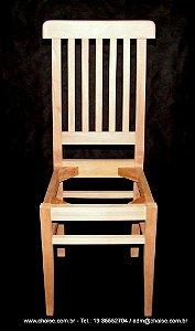 Cadeira Modelo Luisa - sem pintura  sem estofamento