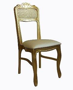 Cadeira Luis Felipe Empilhável - sem braços palhinha no encosto