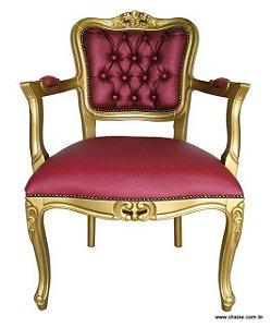 Poltrona Luis XV - laca dourada