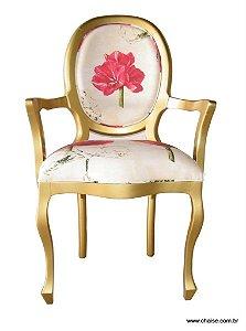 Cadeira Medalhão Lisa com braços