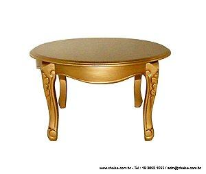 Mesa Lateral - modelo Luis XV Redonda