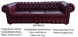 Sofá modelo Chesterfield - almofada solta no assento