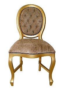 Cadeira Medalhão Lisa - laca dourada