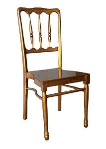 Cadeira Empilhavel - estofamento removivel - pintura Ouro Velho