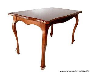 mesa de Jantar Medalhão - 160cm x 100cm - Tampo MDF