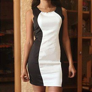 Vestido Sexy Black White