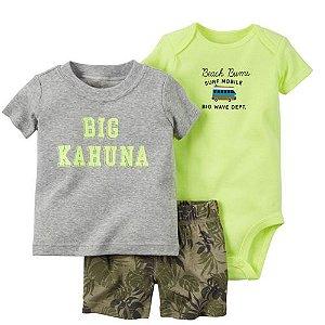 Conjunto Body Camisa e Bermuda Kahuna