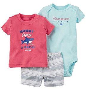 Conjunto Body Camisa e Bermuda Great Catch