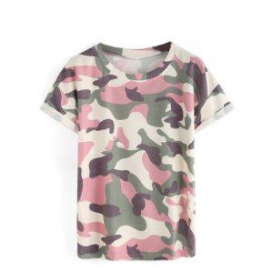 Blusa Estampa Militar Variadas