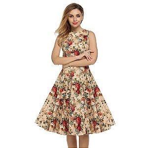Vestido Rodado Classico Florido