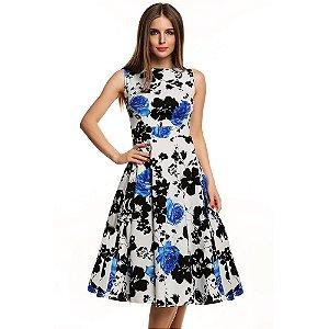 Vestido Rodado Classico Floral