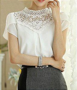 Blusa Branca Elegante