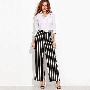 Calça Pantalona Listrada