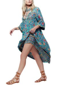 Vestido Gola V Bohemian