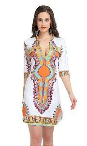 Vestido Branco Indian