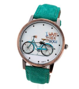Relogio Detalhe Bicicleta Varias Cores