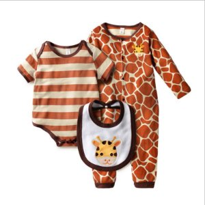 Kit Macacao Body e Babador Unisex