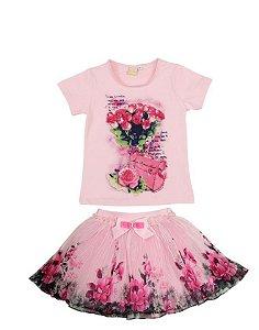 Conjunto Infantil Print Floral