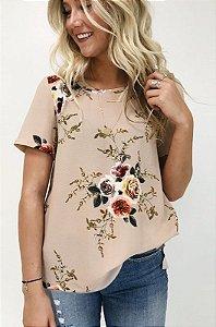 Camiseta Solta Floral