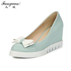 Sapato Feminino Plataforma com Laço