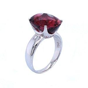 Anel De Ouro 18k - Turmalina Rosa - Pedra Preciosa - Delicado