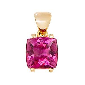 Pingente  de Ouro - Rubelita - Pedra Preciosa - Antique - Encanto