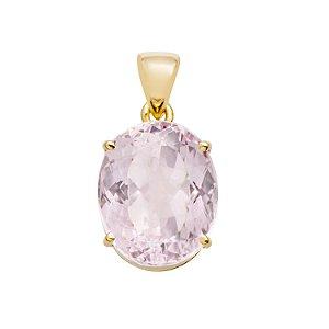Pingente de Ouro 18k - Kunzita - Pedra Preciosa - Exuberante