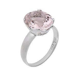 Anel de ouro 18k - Morganita - pedra preciosa - Luxo