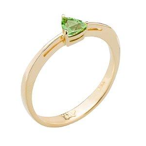 Anel Ouro 18k - Turmalina Paráiba - Pedra Preciosa - Solitário