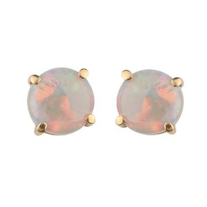 Brinco de Ouro 18k - Opala - Pedras Preciosas - Admirável