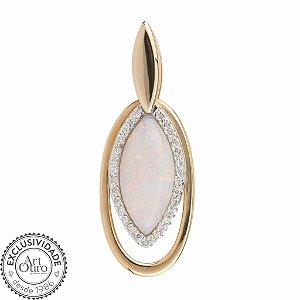 Pingente de Ouro 18k - Opala - Pedra Preciosa - Belíssimo