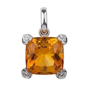 Pingente de Ouro 18k - Citrino - Pedra Preciosa - Adorável