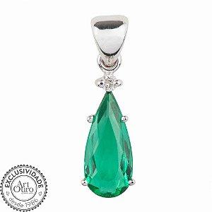 Pingente de Ouro 18k - Esmeralda - Pedra Preciosa  - Esplendida