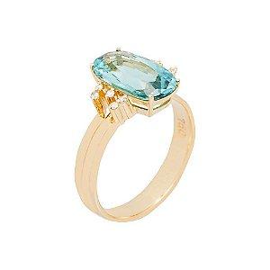 Anel de Ouro - Turmalina - gemas - retangular - Desejável